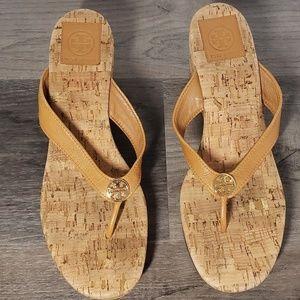 Tory Burch Suzy Cork Platform Wedge Thong Sandal